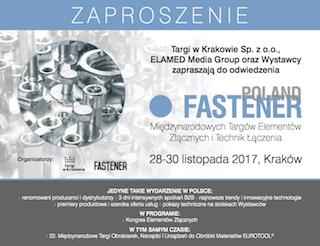 Fastener 2017 zaproszenie - Zapraszamy na Fastener 2017